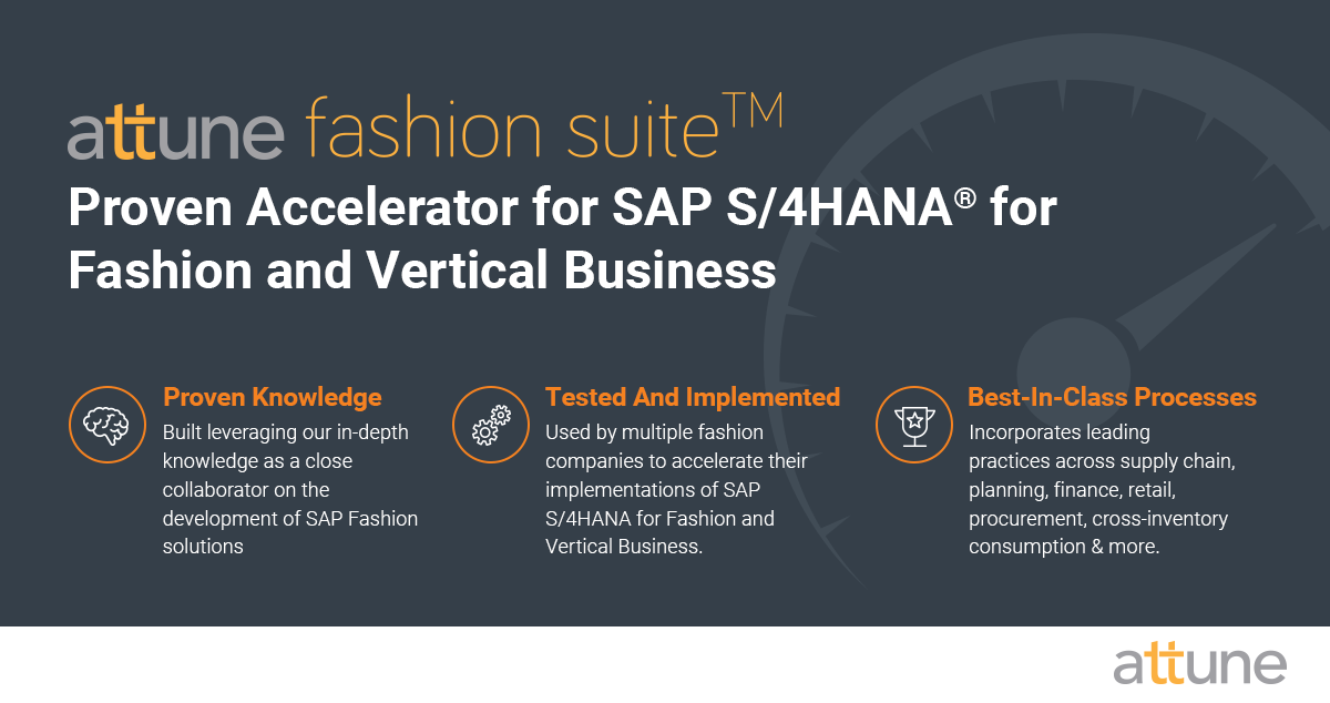 accelerator for SAP S/4HANA for Fashion and Vertical Business